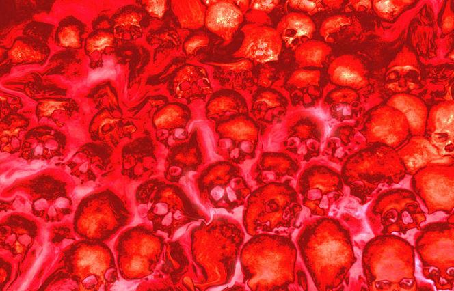 Schädel, Rot, Feuer, Knochen, Fegefeuer, Fotografie