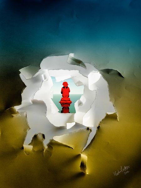 Engel, Gerissen, 3d, Durchblick, Fotografie, Digitale kunst