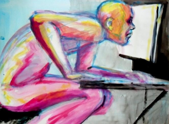 Humankapital, Arbeit, Haltung, Malerei, Senf, Ketchup