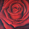 Rot, Acrylmalerei, Rose, Malerei