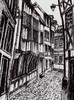 Rouen, Gasse, Zeichnung, Zeichnungen