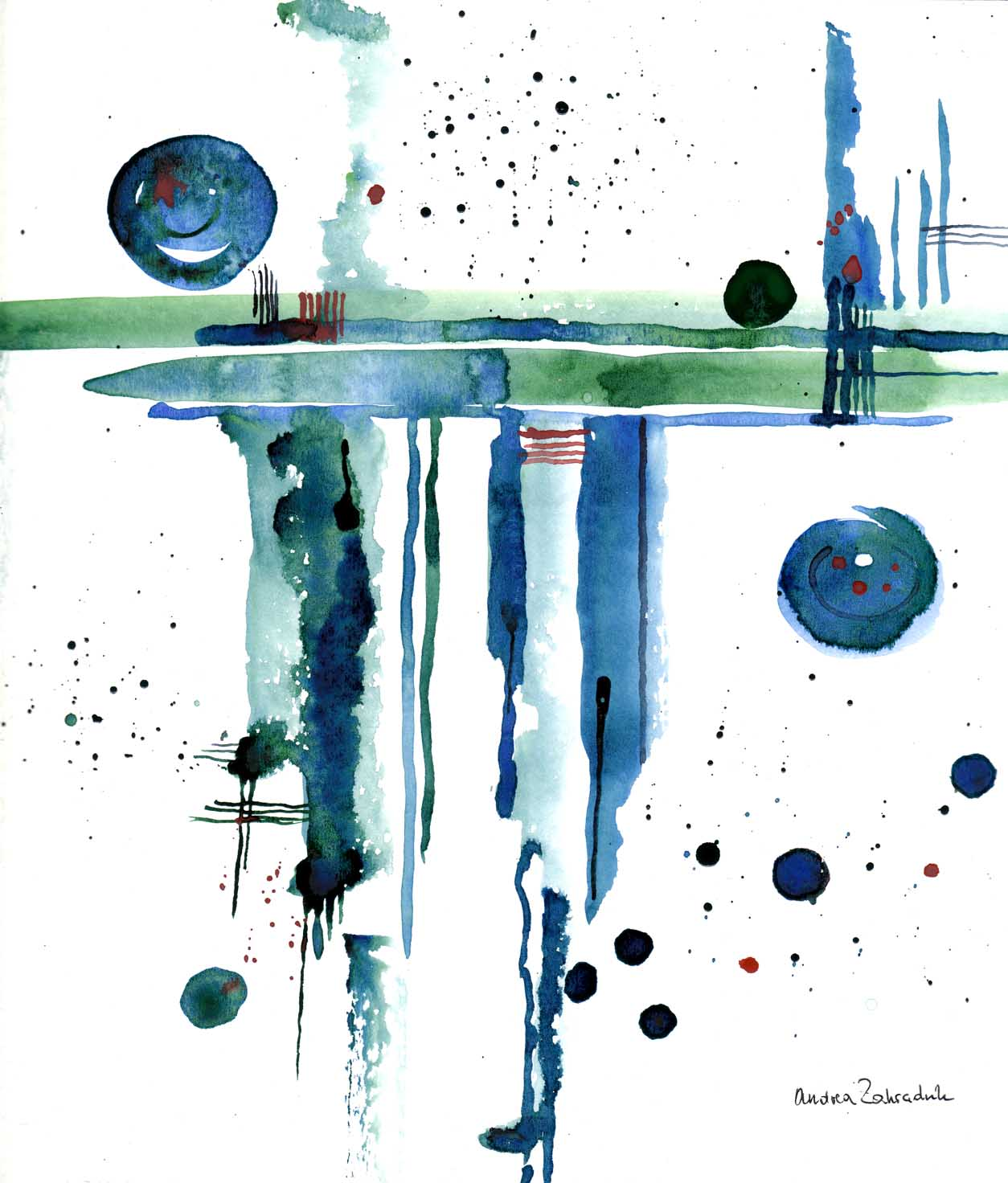 Abstrakt Malerei Abstrakt Von Andrea Zahradnik Bei Kunstnet