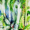 Grün, Landschaft, Palmen, Thailand