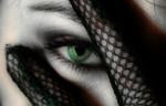 Handschuhe, Frau, Geheimnissvoll, Augen