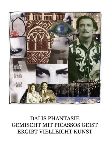 Dalí, Haiku, Collage, Mischtechnik