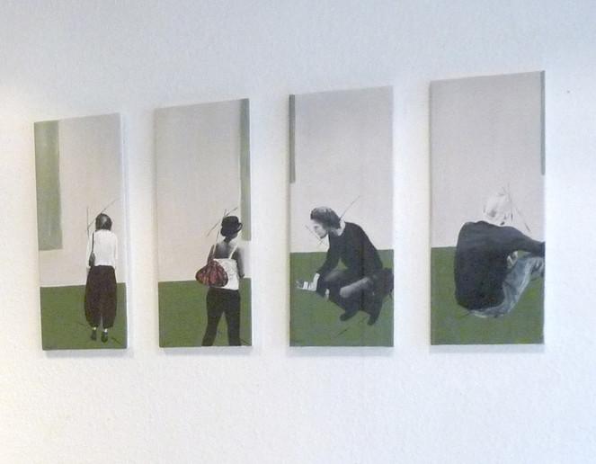 Malerei, Figural, Betrachtung, Wand