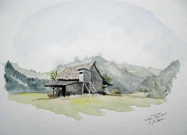 Hochsitz, Malerei,