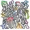 2011, Figurengruppe, La ola, Kunstdruck