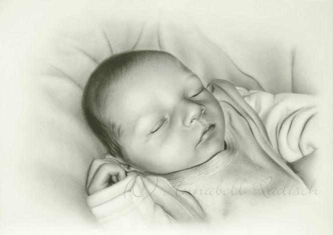 Jung, Realismus, Baby, Portrait, Zeichnungen