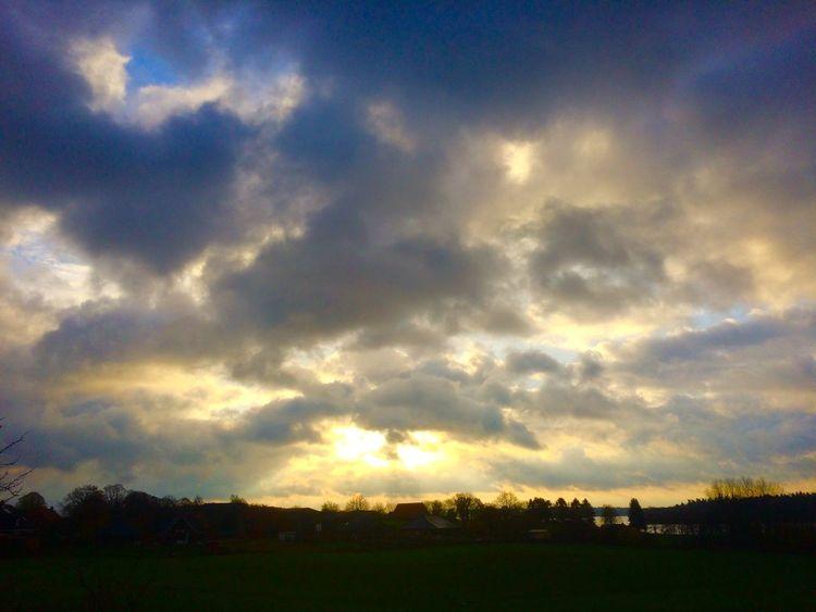 Sonne, Himmel, Morgen, Landschaft, Wolkenherz, Fotografie