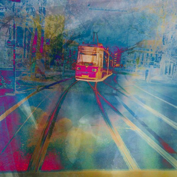 Straßenbahn der unberührten, Aus dem überallhin, Rührenden, Mischtechnik,