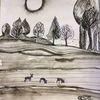 Sonne, Feld, Baum, Zeichnungen