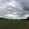 Wolken, Feld, Weite, Abend