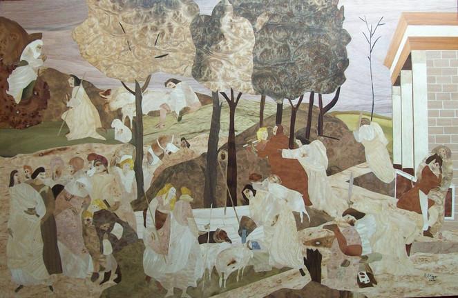 Moses, Marketerie, Intarsienbilder, Stöger j, Kunsthandwerk, Holz