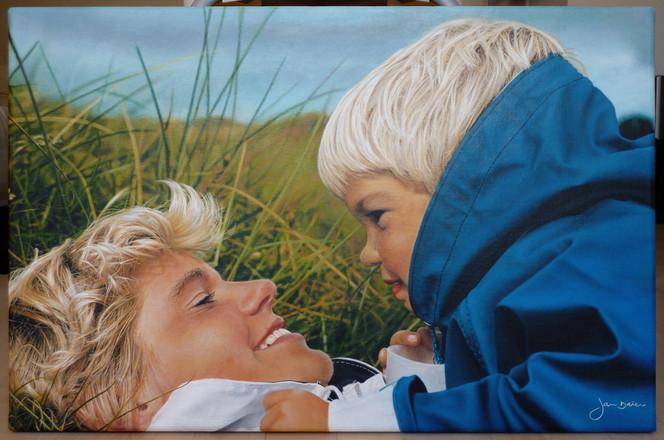 Acrylmalerei, Fotorealismus, Malerei, Figural