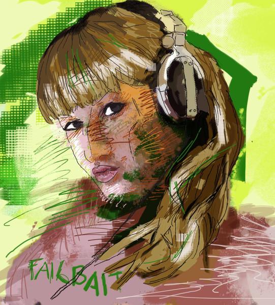 Photoshop, Portrait, Zeichnung, Digitale kunst,