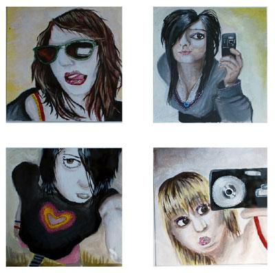 Vernetzung, Selbstportrait, Sozial, Schaf, Myspace, Malerei
