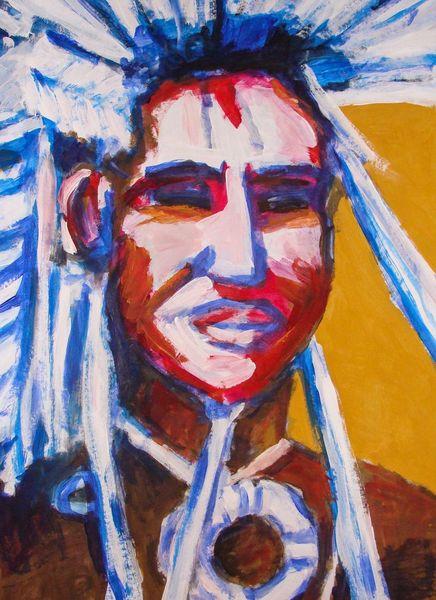 Menschen, Amerika, Nativ, Malerei