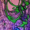 Violett, Grün, Acrylmalerei, Schwarzlicht