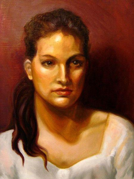 Frau, Portrait, Malerei