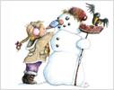 Polychromos, Kind, Schnee, Winter
