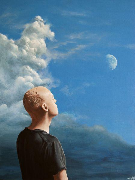 Mond surreal, Malerei, Surreal