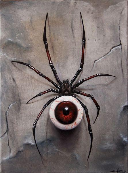 Augen, Speyeder, Spinne, Surreal, Malerei