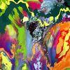 Gegenstandslos, Farbe ist information, Gegenstandslos abstrakt malerei, Malerei