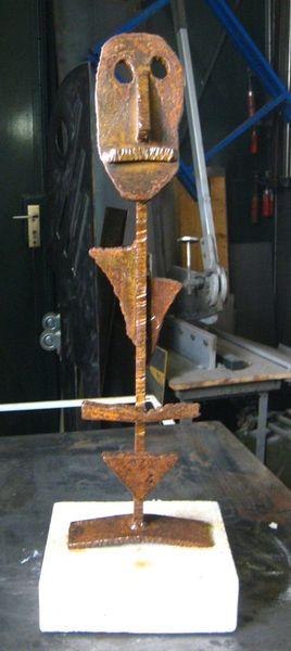 Minimalismus, Skulptur, Metallskulptur, Stahl, Düsseldorf, Figur