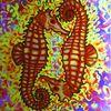 Seepferdchen, Acrylmalerei, Malerei,
