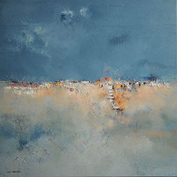 Gemälde, Portugal, Landschaft, Bart van oijen, Acrylmalerei, Wüste