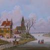 Holländische malerei, Winter, Baum, Zeitgenössischer maler