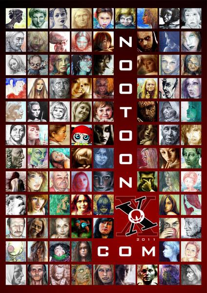 Plakatkunst, Gesicht, Sammlung, 2011, Grafik,