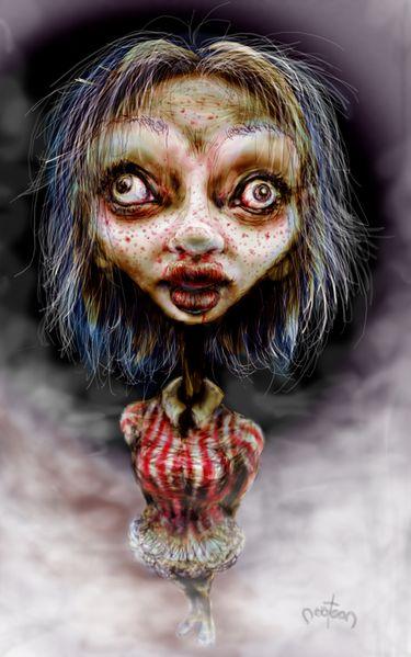 Illustration, Zombie, Digital, Deutschland, Halloween, Digitale kunst