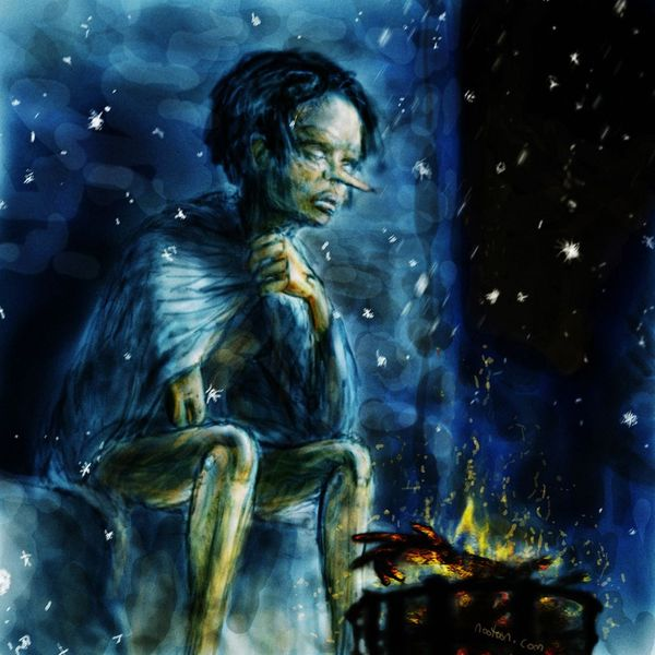 Winter, Illustration, Digital, Pinoccia, Digitale kunst, Figural