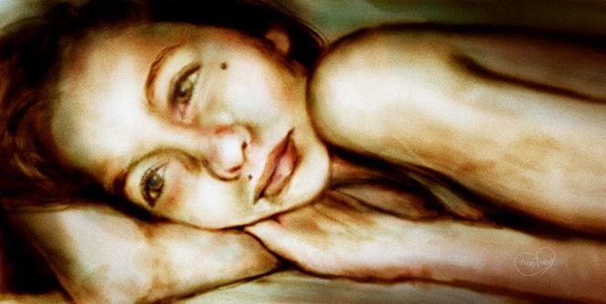 Einschlafen, Traum, Nacht, Schlaf, Deutschland, Malerei
