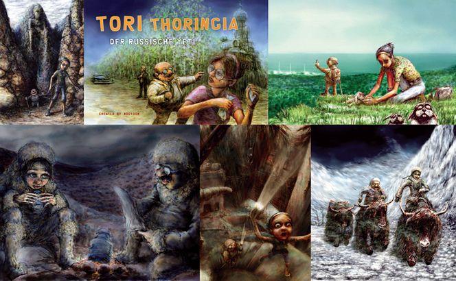 Thüringen, Abenteuer, Deutschland, Tori thoringia, Plakatkunst, Comic