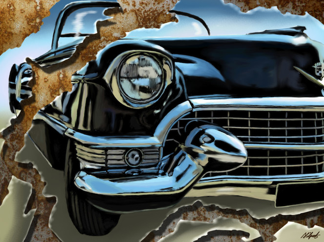 Cadillac, Hilpart, Usa, Surreal, Grafik, Digital