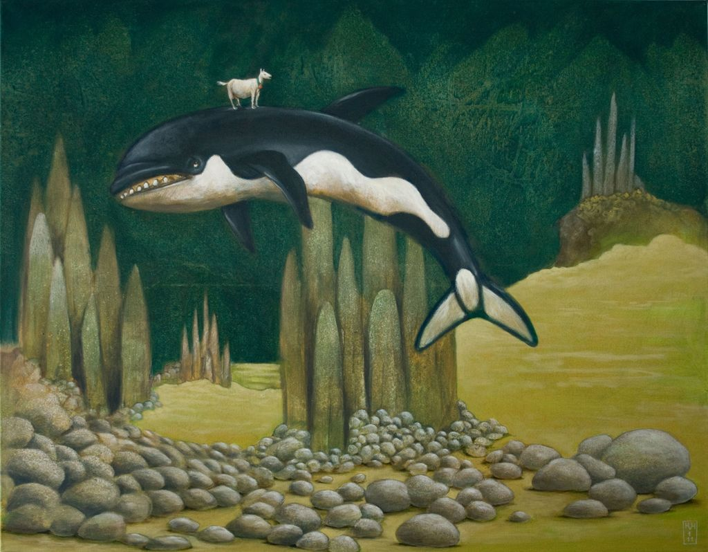 bild surreal fantasie orca schwertwal von hinrich van. Black Bedroom Furniture Sets. Home Design Ideas