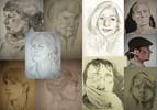 Portraithalde, Zeichnungen, Portrait