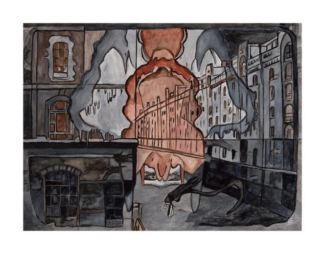Hamburg, Reiter, Speicherstadt, Malerei, Surreal, Besuch