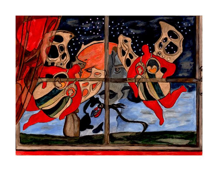 bild weihnachten sylvester malerei von vera boldt bei. Black Bedroom Furniture Sets. Home Design Ideas