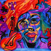 Jimi hendrix, Aquarell, Hendrix