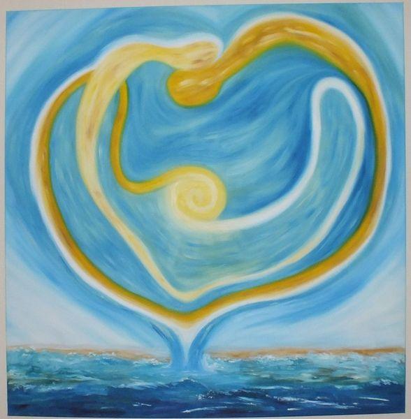 Sonne, Ölmalerei, Gefühl, Abstrakt, Liebe, Malerei
