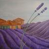 Landschaft, Violett, Duft, Provence
