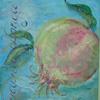 Türkis, Granatapfel, Frische, Malerei