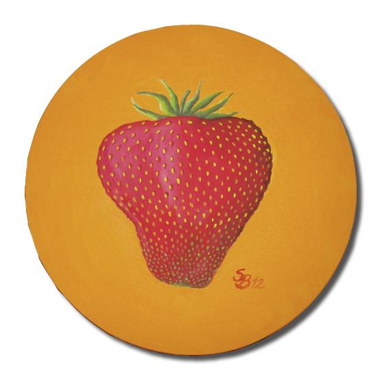 Orange, Früchte, Erdbeer, Rot, Lecker, Malerei