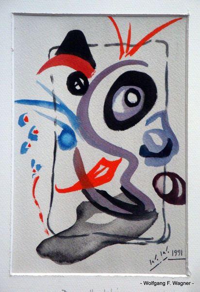 bild verabstrahiert fantasie 1991 portrait von wolfgang f wagner bei kunstnet. Black Bedroom Furniture Sets. Home Design Ideas