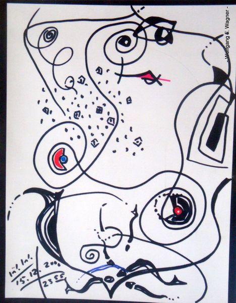 Malerei, Abstrakt, Kampf, Grafik