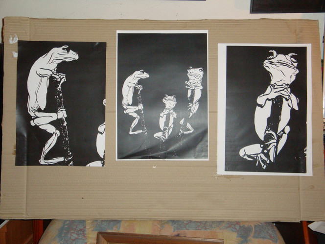 Zeichnungen, Grafik, Links, Rechts, Frosch